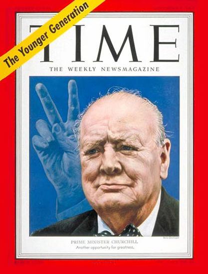 1951-11 Winston Churchill Copyright Time Magazine | Time Magazine Covers 1923-1970