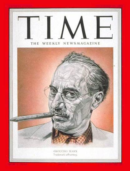 1951-12 Groucho Marx Copyright Time Magazine | Time Magazine Covers 1923-1970