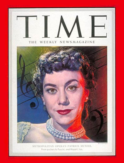 1951-12 Patrice Munsel Copyright Time Magazine | Time Magazine Covers 1923-1970