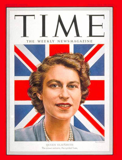 1952-02 Queen Elizabeth II Copyright Time Magazine | Time Magazine Covers 1923-1970