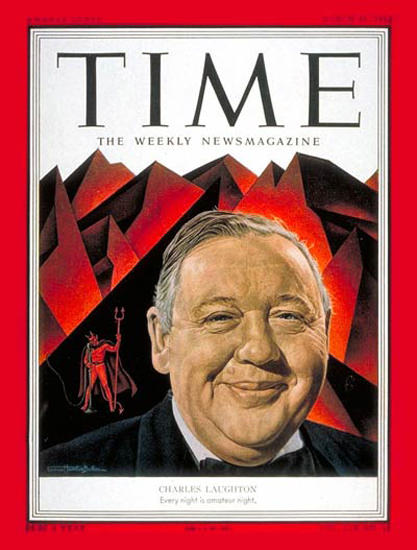 1952-03 Charles Laughton Copyright Time Magazine | Time Magazine Covers 1923-1970