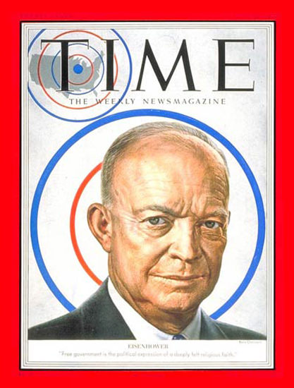 1952-06 Dwight D Eisenhower Copyright Time Magazine | Time Magazine Covers 1923-1970