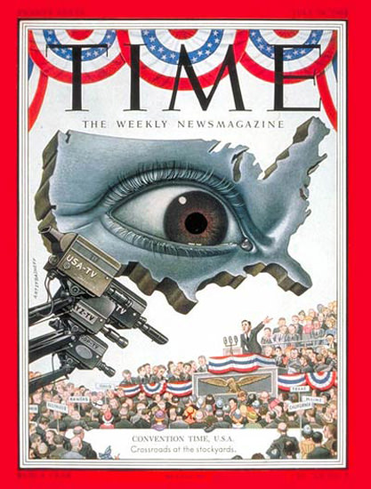 1952-07 Convention Time USA Copyright Time Magazine | Time Magazine Covers 1923-1970