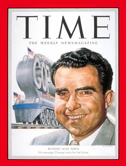 1952-08 Richard Nixon Copyright Time Magazine | Time Magazine Covers 1923-1970