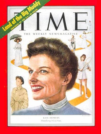 1952-09 Katharine Hepburn Copyright Time Magazine | Time Magazine Covers 1923-1970