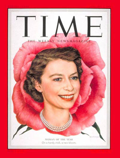 1953-01 Queen Elizabeth II Copyright Time Magazine | Time Magazine Covers 1923-1970