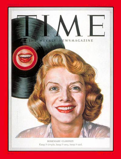 1953-02 Rosemary Clooney Copyright Time Magazine | Time Magazine Covers 1923-1970