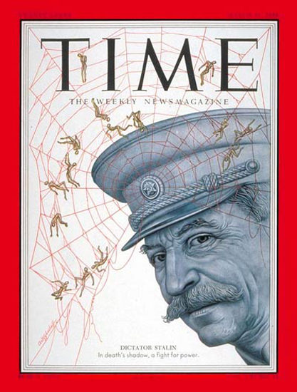 1953-03 Joseph Stalin USSR Copyright Time Magazine | Time Magazine Covers 1923-1970