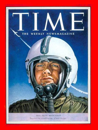 1953-04 Bill Bridgeman Copyright Time Magazine | Time Magazine Covers 1923-1970