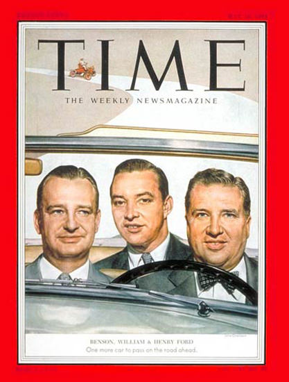 1953-05 William Benson Henry Ford Copyright Time Magazine | Time Magazine Covers 1923-1970