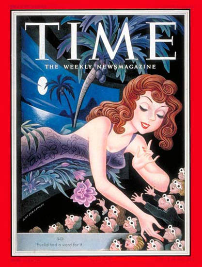 1953-06 3-D Movies Copyright Time Magazine | Time Magazine Covers 1923-1970