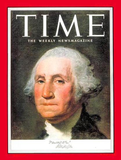 1953-07 George Washington Copyright Time Magazine | Time Magazine Covers 1923-1970