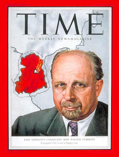 1953-07 Walter Ulbricht Germany Copyright Time Magazine | Time Magazine Covers 1923-1970