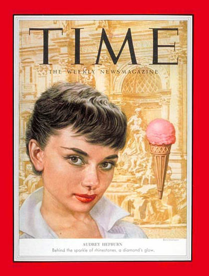1953-09 Audrey Hepburn Copyright Time Magazine | Time Magazine Covers 1923-1970