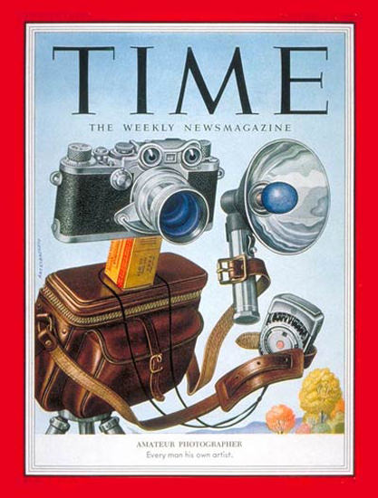 1953-11 Amateur Photographer Copyright Time Magazine | Time Magazine Covers 1923-1970