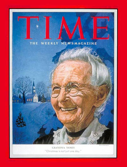 1953-12 Grandma Moses Copyright Time Magazine | Time Magazine Covers 1923-1970