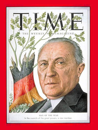 1954-01 Konrad Adenauer Germany Copyright Time Magazine | Time Magazine Covers 1923-1970