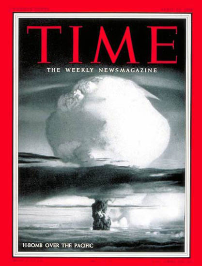 1954-04 H-Bomb over Pacific Copyright Time Magazine | Time Magazine Covers 1923-1970