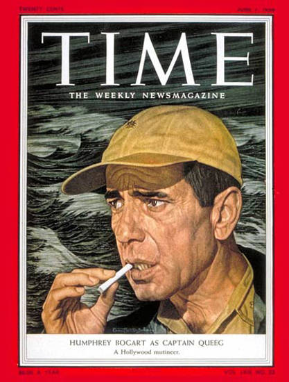 1954-06 Humphrey Bogart Copyright Time Magazine | Time Magazine Covers 1923-1970