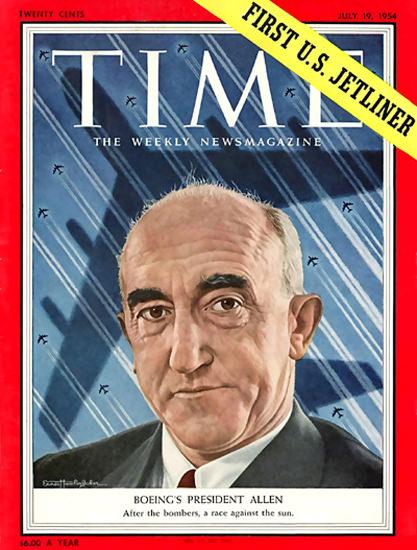 1954-07 William McP Allen Copyright Time Magazine | Time Magazine Covers 1923-1970
