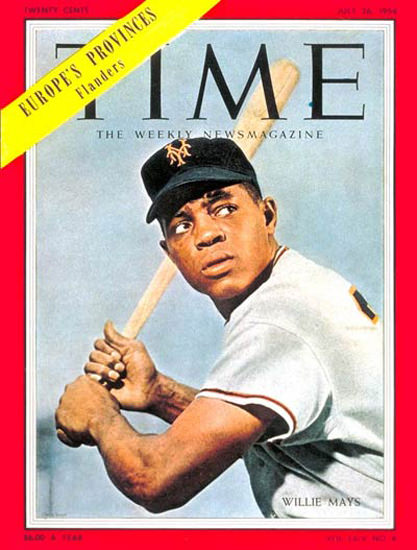 1954-07 Willie Mays Baseball Copyright Time Magazine | Time Magazine Covers 1923-1970
