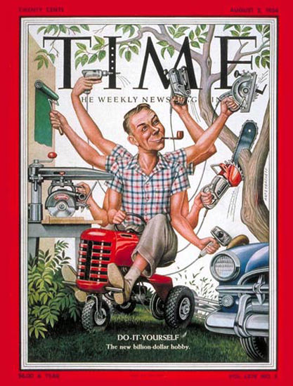 1954-08 Do-it-Yourself Copyright Time Magazine | Time Magazine Covers 1923-1970