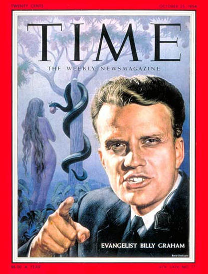 1954-10 Billy Graham Copyright Time Magazine | Time Magazine Covers 1923-1970
