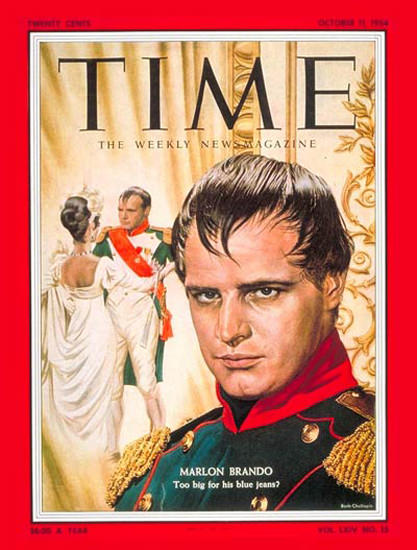 1954-10 Marlon Brando Copyright Time Magazine | Time Magazine Covers 1923-1970