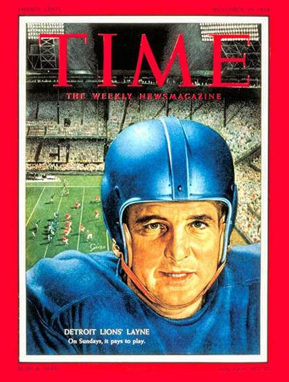1954-11 Bobby Layne Football Copyright Time Magazine | Time Magazine Covers 1923-1970