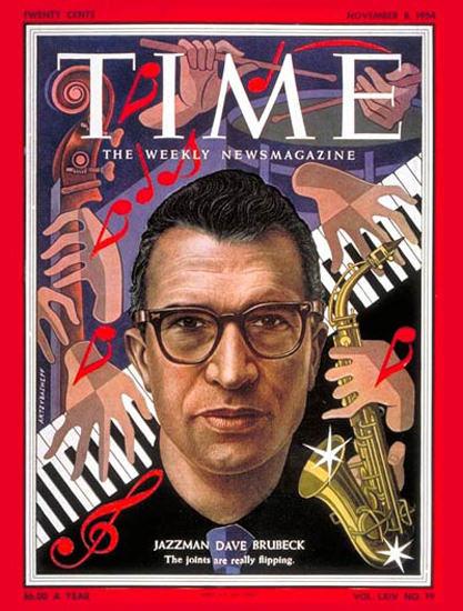 1954-11 David Brubeck Copyright Time Magazine | Time Magazine Covers 1923-1970