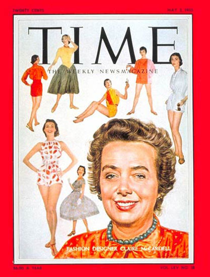 1955-05 Claire McCardell Copyright Time Magazine | Time Magazine Covers 1923-1970