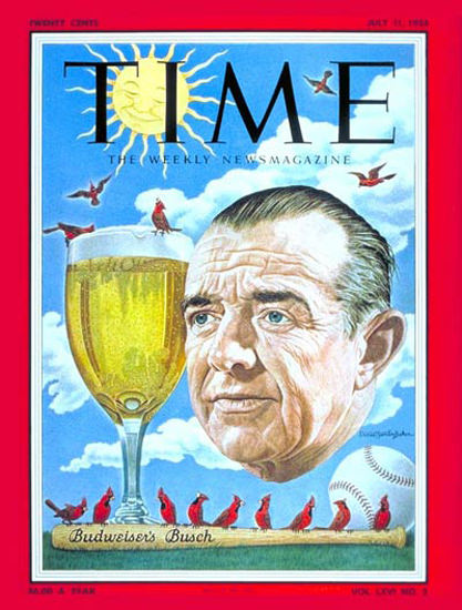 1955-07 August Anheuser Busch Jr Copyright Time Magazine | Time Magazine Covers 1923-1970