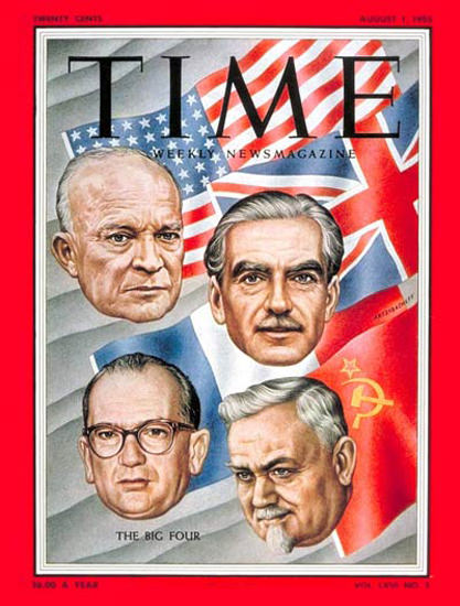 1955-08 Big Four at Geneva Copyright Time Magazine | Time Magazine Covers 1923-1970
