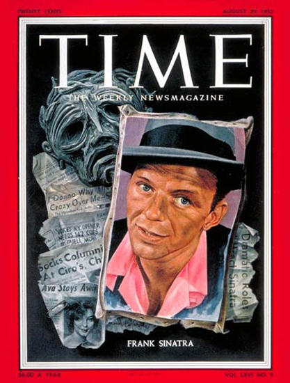 1955-08 Frank Sinatra Copyright Time Magazine | Time Magazine Covers 1923-1970