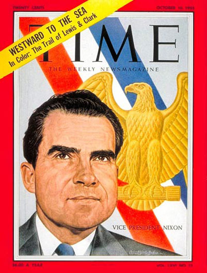 1955-10 Richard Nixon Copyright Time Magazine | Time Magazine Covers 1923-1970