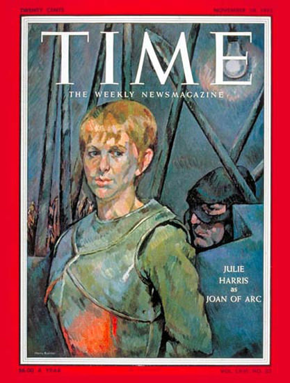 1955-11 Julie Harris Joan of Arc Copyright Time Magazine | Time Magazine Covers 1923-1970