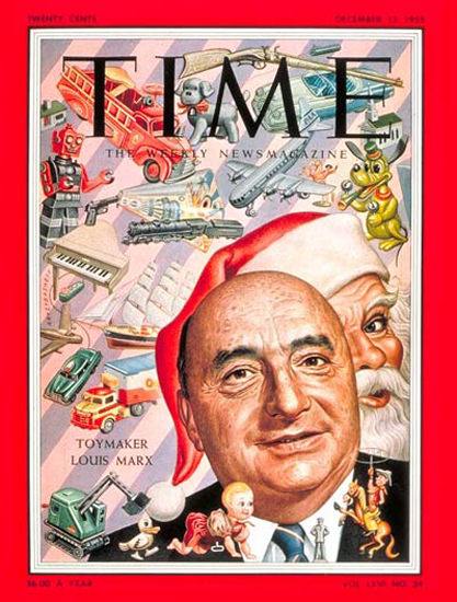 1955-12 Louis Marx Copyright Time Magazine | Time Magazine Covers 1923-1970