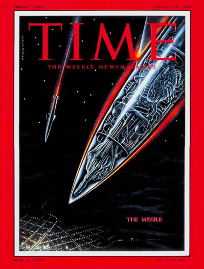 1956-01 The Missile Copyright Time Magazine | Time Magazine Covers 1923-1970