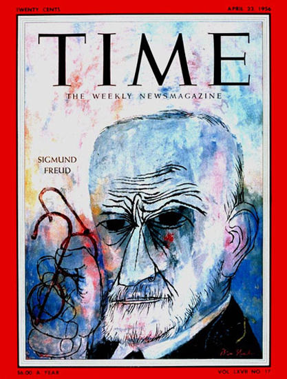 1956-04 Sigmund Freud Copyright Time Magazine | Time Magazine Covers 1923-1970