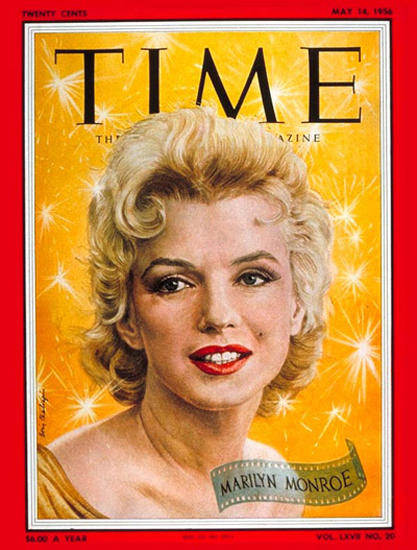 1956-05 Marilyn Monroe Copyright Time Magazine | Time Magazine Covers 1923-1970