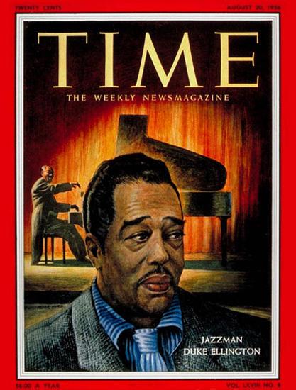 1956-08 Duke Ellington Copyright Time Magazine | Time Magazine Covers 1923-1970