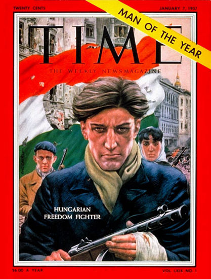 1957-01 Hungarian Patriot Copyright Time Magazine | Time Magazine Covers 1923-1970