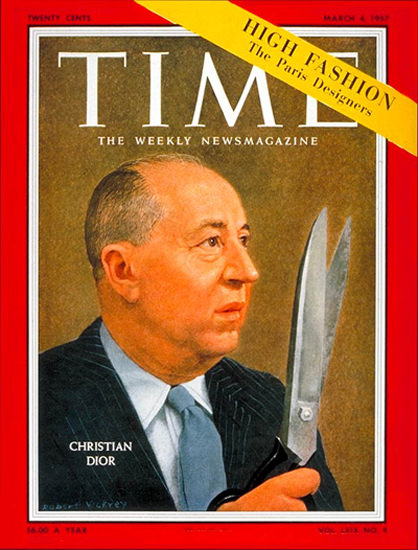 1957-03 Christian Dior Copyright Time Magazine | Time Magazine Covers 1923-1970