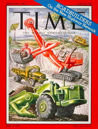 1957-06 Monster Machines Copyright Time Magazine | Time Magazine Covers 1923-1970