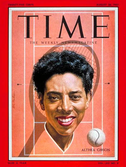 1957-08 Althea Gibson Tennis Copyright Time Magazine | Time Magazine Covers 1923-1970