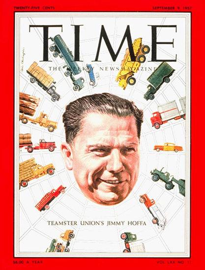 1957-09 James Hoffa Copyright Time Magazine | Time Magazine Covers 1923-1970