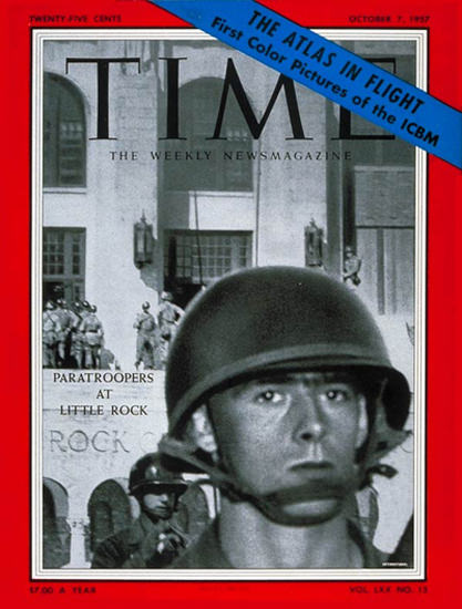 1957-10 Little Rock Integration Copyright Time Magazine | Time Magazine Covers 1923-1970