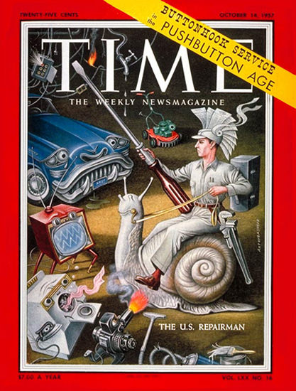 1957-10 The US Repairman Copyright Time Magazine | Time Magazine Covers 1923-1970