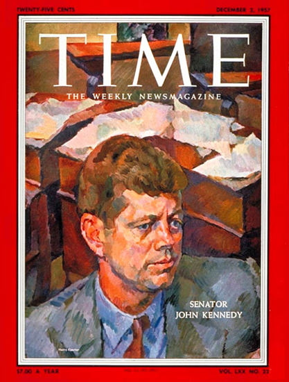 1957-12 Senator John F Kennedy Copyright Time Magazine | Time Magazine Covers 1923-1970