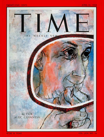 1958-04 Alec Guinness Copyright Time Magazine | Time Magazine Covers 1923-1970